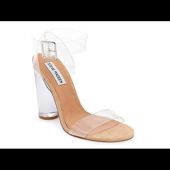 0947ef199ae Steve Madden Camille Lucite Clear Sandals. M 5b8413965bbb80f597aa3800